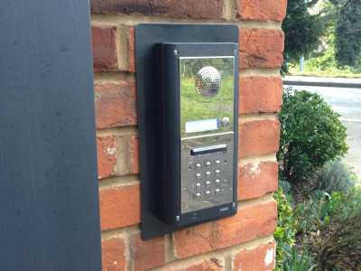 access control system installed on wall