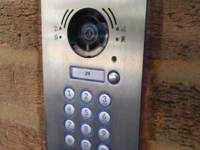 keypad entry and camera