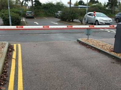 branded car park barrier