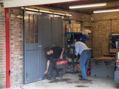 cleaning after gate installation