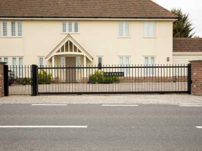 decorative wrought iron sliding gate