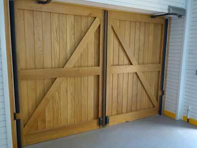 wooden door bespoke automation