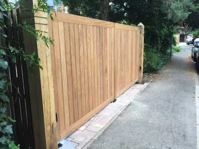 automated wooden gate london