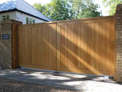 secure wooden residential gate