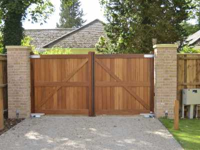 Cambridge Development timber swing gate
