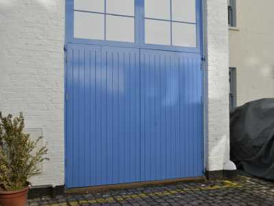 Mews property swing doors closed